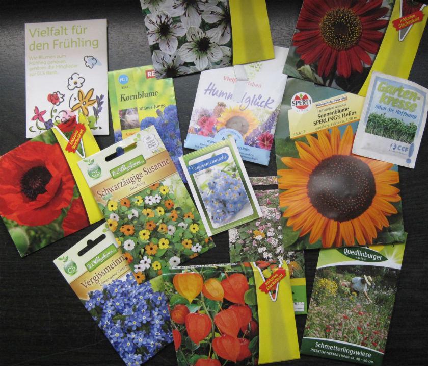 Blumensamensammlung