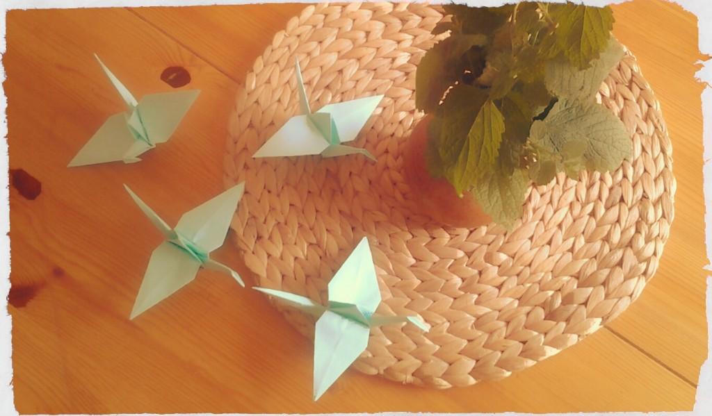 Kraniche Origami